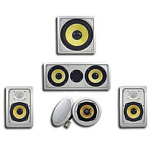 Acoustic Audio HD515 in-Wall/Ceiling Home Theater Surround 5.1 Speaker System (Best Budget Home Theater Speakers)