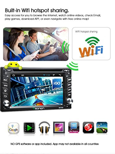 Eonon® G2110F 2 DIN 6 2 Inch Car DVD Player GPS Quad Core Pure Android  4 4 4 Operation System SAT NAV System Bluetooth Touch Screen