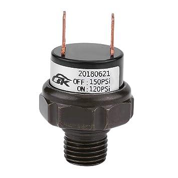 KIMISS Automatischer Luftdruckkontrollschalter f/ür Auto 12V 125-200 PSI default