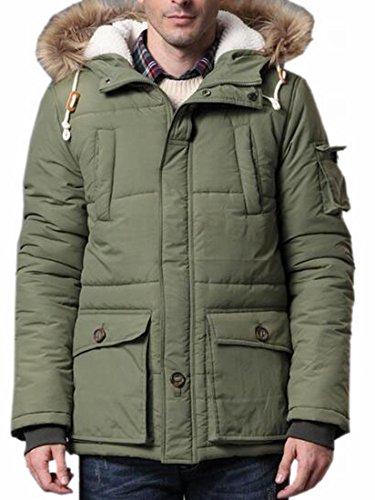 today Men's UK Winter Hood Faux Jackets 4 Outwear Fur Warm Coats 114rw6qAg