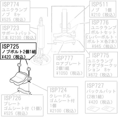カーメイト(CARMATE) ISP 725 ノブボルト 2本セット アフターパーツ