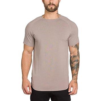 Camisetas Hombre Mangas Corta Al Aire Libre POLP Gimnasios para Hombres Culturismo Fitness Músculo Camiseta de Deportes Tops Blusa Entrenamiento M/L/XL/2XL: ...