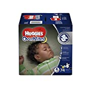 HUGGIES OverNites Diapers, Size 4, 74 ct, GIGA JR PACKOvernight Diapers (Packaging May Vary)