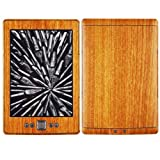 Skinomi Kindle Screen Protector + Light Wood Full Body (2012), TechSkin Light Wood Skin for Kindle with Anti-Bubble Clear Film Screen