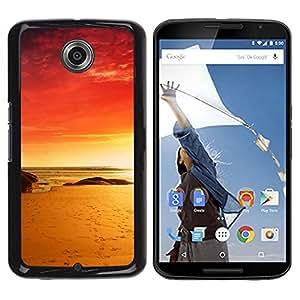 // PHONE CASE GIFT // Duro Estuche protector PC Cáscara Plástico Carcasa Funda Hard Protective Case for NEXUS 6 / X / Moto X Pro / Red Beach /