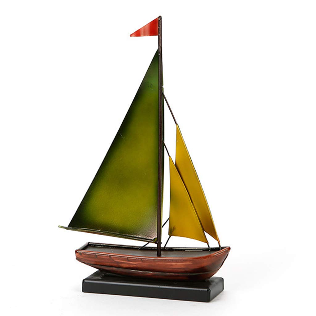 Metal Ornaments for The Home-Wrought Iron Sailing Ornament Crafts Decoration Ornaments Home Accessories Clothing Store with Props Gifts 20305.5 (Size : A)