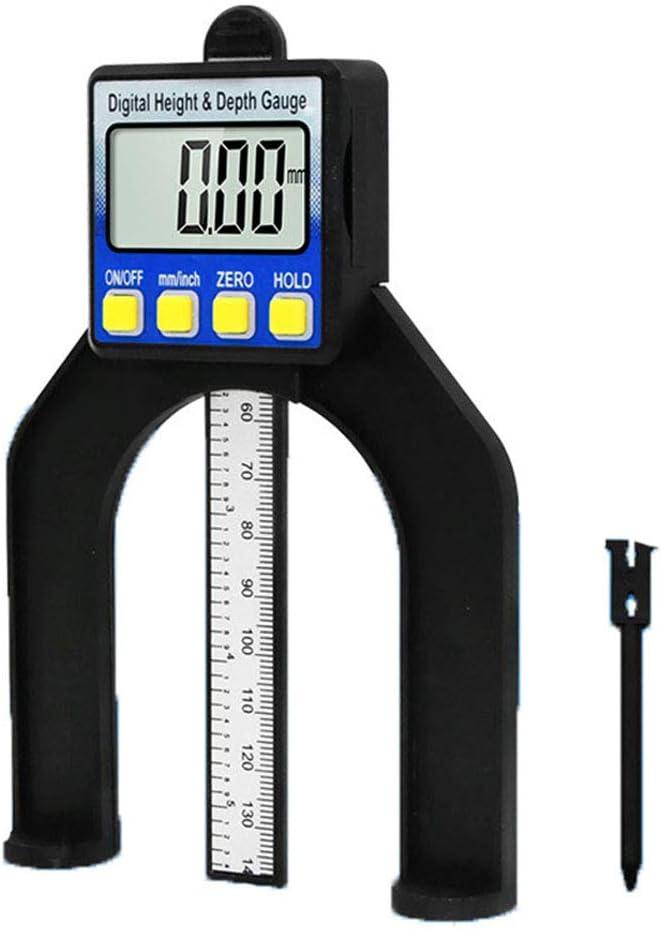 Digitales Profiltiefenmesser LCD 80mm Manuelle Fr/äsmaschine Maschinenbau Holzbearbeitung Fr/ästisch Messwerkzeug Black Acant Digitales Tiefenmessger/ät