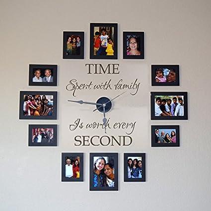 Amazoncom Family Clock Wall Decal Living Room Vinyl Decor Vinyl