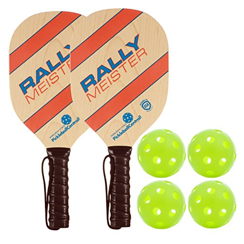 PickleballCentral Pickleball Paddle | Rally Meister Beginner Pickle Ball Paddles and Pickleball Sets USAPA Approved | Lightweight and Durable | Comfort Cushion Grip | Great Fun for All Ages