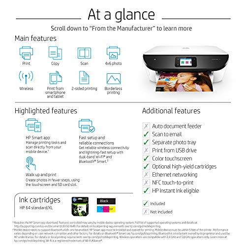 HP Photo All in One Photo Printer HP Ink & Amazon - White