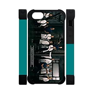 Diycover Grey's Anatomy Doctor Face-to-Face iPhone 5 5S Perfect Color Match Cover Case for Fans