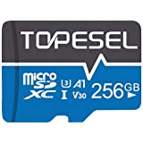 TOPESEL 256GB Micro SD Card Memory Cards A1 V30 U3 Class 10 Micro SDXC UHS-I TF Card for Cemera/Drone/Dash Cam(1 Pack U3 256G