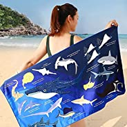 Beach Towel for Adults, Oversized Camping Towel 59 x 31 Inches Extra Soft Super Absorbent Pool Towel Quick Dry