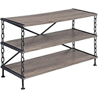 ACME Furniture 91224 Jodie TV Stand, Rustic Oak & Antique Black