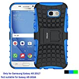 Case for Samsung Galaxy A5 2017 ,Fetrim Rugged Dual Layer Shockproof TPU Case Protective Cover for Samsung Galaxy A5 2017 with Built-in Kickstand (Blue)
