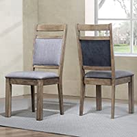 Roundhill Furniture C725 Costabella Collection Solid Wood Set of 2, Dining Chair