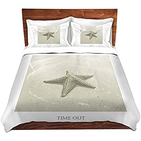 DiaNoche Designs Carlos Casamayor Time Out VIII Starfish Brushed Twill Unique Home Decor Bedding Cover 8 King Duvet Sham Set