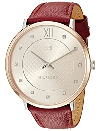 Tommy Hilfiger Women's 'Sophisticated Sport' Quartz Steel-Two-Tone and Leather Casual Watch, Color:Brown (Model: 1781810)