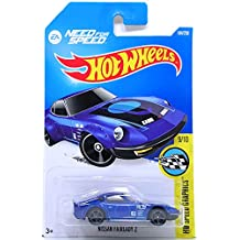 Hot Wheels 2016 Nissan Fairlady Z Hw Speed Graphics Blue 184/250, Long Card by Mattel