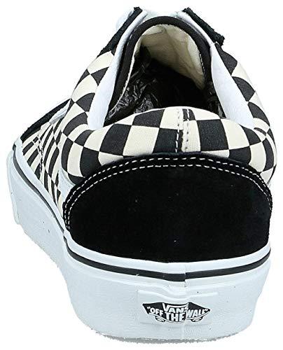 Vans Old Skool (Primary Check) Black/White Men's 3.5, Women's 5