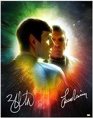 Leonard Nimoy and Zachary Quinto Autographed 11x14 Star Trek Spock Legacy Photo
