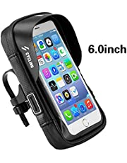 MIGHTYDUTY Bicycle Mobile Phone Bracket Bag Touch Screen Waterproof Bag Mountain Bike GPS Shell Bicycle Handlebar Pocket, 19.4X 12.5X 7CM