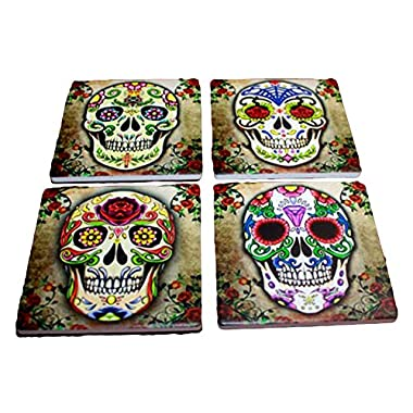 Sugar Skull Spirit Coaster Set of 4