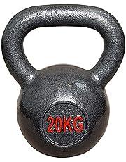 Vivol Kettlebell 20 kg gietijzer - kogelhalter gietijzer training gewicht voor gym, crossfit en fitness thuis - van 6 kg tot 20 kg