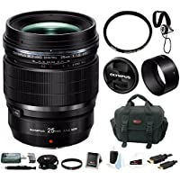 Olympus M.Zuiko Digital ED 25mm f/1.2 PRO Lens with Focus Accessory Bundle