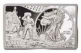 2019 3 oz 50th Anniversary Apollo 11 American Eagle Silver Coin Bar Set Box COA