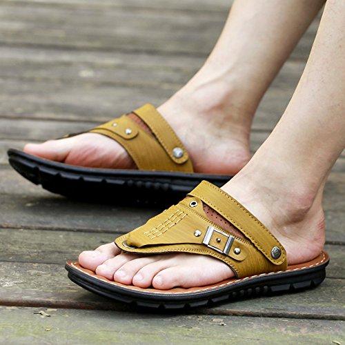ZHANGJIA der Sommer Herren Sandalen, Legere Schuhe, Rutschfeste 41, und Wearable Koreanische Hausschuhe, 41, Rutschfeste Khaki 8819 - 21364c