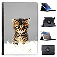 Cute Kitten Cat For Apple iPad Mini, iPad Mini 2, iPad Mini Retina, iPad Mini 3 Faux Leather Folio Presenter Case Cover Bag with Stand Capability