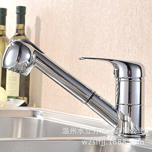 Hlluya Wasserhahn für Waschbecken Küche Kalt Wasserhahn Wasserhahn Wasserhahn schwenkbar Pull-down warm kalt Wasserhahn Spray Küche Wasserhahn Dusche Rohr Pull-down Wasserhahn b36574