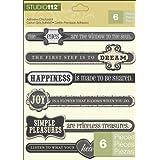 K&Company Studio 112 Chipboard Stickers, Inspiration