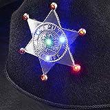 Black Sheriff Hat (1-Pack) Sheriff Cowboy Light Up