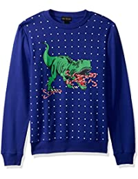 Men's Candy Cane T-Rex Ugly Christmas Sweater