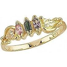 Black Hills Gold Mother's Ring - 4 stones - G927