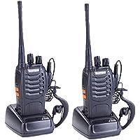 Baofeng BF-888S Walkie Talkie Rechargeable Two Way Radio Long Range Walkie Talkies With Earpiece(pack of 2)