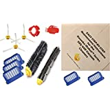 HC Maintenance Repair Kit for Roomba iRobot Series 585 595 600 620 630 650 Vacuum Includes 5 Replacement Filters-3 Side Brushes-Bristle and Beater Brush-Cleaning Kit and Easy Step-by-Step Instructions