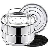 Aozita 8 qt Steamer Insert Pans for Instant Pot 8