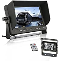 Backup camera truck GERI Waterproof 12V 24V HD CCD rear view camera system (WIRED) + 7 TFT LCD Color HD Screen Display Monitor
