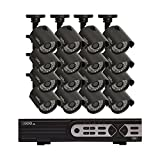Q-See QTH916-16AG-2 16-Channel 720-Pixel Analog HD System with 16 High-Definition 720-Pixel-Camera and 2TB Hard Drive, Grey