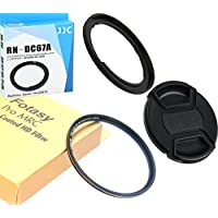 Accessory Kit: JJC RN-DC67A 67mm Filter Adapter replaces FA-DC67A, 67mm Pro1D MRC Nano HD UV Filter and Lens Cap for CANON PowerShot SX530 HS, SX520 HS, SX60 HS, SX50 HS, SX40 HS, SX30 IS, SX20 IS