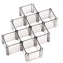 Segbeauty Desk Drawer Organizer, Free Combination Dresser Drawer Dividers 6 Grids, Easy Assemble Cabinet Drawer Insert for Underwear Makeup Accessories - Black