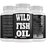 Wild Fish Oil Caps, Sustainable Omega-3 DPA, EPA, DHA 1000mg Supplement, Friends of The Sea Certified, Ultra-Premium Burp Less Formulation, Harvested from U.S. Waters (6 Bottles - 60x Count)