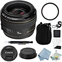 Canon EF 28mm f/1.8 USM Lens + Canon EF 28mm Lens Advanced Accessory Kit - Canon Lens Bundle Includes EVERYTHING You Need to Get Started
