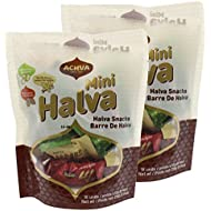 Achva Kosher Vanilla, Cocoa Beans, and Pistachio Mini Halva Bars Snack Bag 18ct. Each Bar 0.4oz Net Wt 7.6oz (Pack of 2)