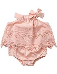 Newborn Baby Romper Girls Jumpsuit Infant Bodysuit Tutu Lace Dress Clothes Outfit