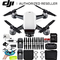 DJI Spark Portable Mini Drone Quadcopter Fly More Combo Palm Landing Pad Bundle (Alpine White)