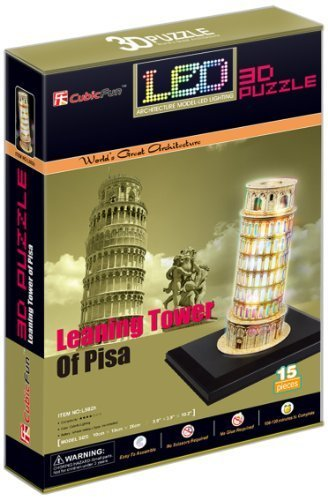 CubicFun Leaning Tower of Pisa  3D LED Puzzle by CubicFun